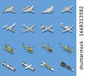 military air forces isometric... | Shutterstock .eps vector #1668313582