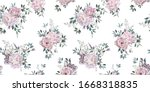 seamless floral pattern with... | Shutterstock . vector #1668318835