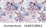 seamless floral pattern with... | Shutterstock . vector #1668318862