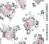 seamless floral pattern with... | Shutterstock . vector #1668318865