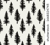 vector seamless pattern with... | Shutterstock .eps vector #1668324745