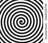 Concentric Lines. Spiral. Volute. Hypnosis Circular Rotating Background. Vector Illustration. - stock vector