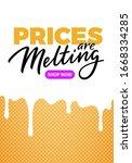 melting prices sale banner... | Shutterstock .eps vector #1668334285