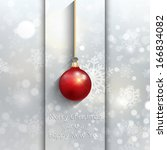 christmas background with... | Shutterstock .eps vector #166834082