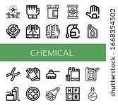set of chemical icons. such as... | Shutterstock .eps vector #1668354502