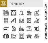 refinery icon set. collection... | Shutterstock .eps vector #1668354625