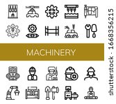 machinery simple icons set.... | Shutterstock .eps vector #1668356215