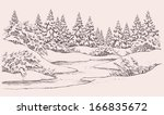 vector graphic sketch. winter... | Shutterstock .eps vector #166835672