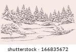 Vector Graphic Sketch. Winter...