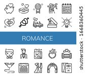 set of romance icons. such as...   Shutterstock .eps vector #1668360445