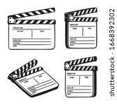 Movie Clapperboard. Opened...