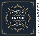 vintage frame template vector... | Shutterstock .eps vector #1668399352