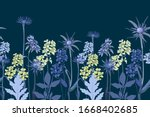 vector floral seamless border.... | Shutterstock .eps vector #1668402685