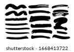 black paint wavy and straight... | Shutterstock .eps vector #1668413722