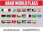 flags of arab world countries.... | Shutterstock .eps vector #1668450412