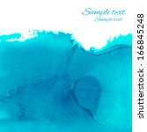 watercolor blue background with ... | Shutterstock .eps vector #166845248