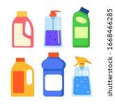 detergent cleaners bottles...   Shutterstock .eps vector #1668466285
