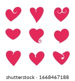 hearts isolated set. vector... | Shutterstock .eps vector #1668467188