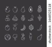 blackboard fruits doodle icon... | Shutterstock .eps vector #1668525118
