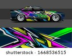 car wrap design. with abstract  ... | Shutterstock .eps vector #1668536515
