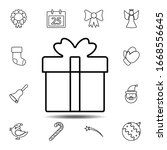 present icon. simple thin line  ...