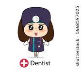 dentist  cartoon character...   Shutterstock .eps vector #1668597025