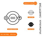 equality icons set vector...