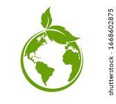 green earth  green leaf art....   Shutterstock .eps vector #1668602875