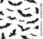 seamless pattern with black... | Shutterstock .eps vector #1668611488