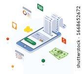 electronic bill  online payment ...   Shutterstock .eps vector #1668652672