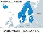 nordic baltic eight  nb8 ... | Shutterstock .eps vector #1668654172