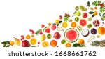 collage of various fresh fruits ...   Shutterstock . vector #1668661762
