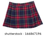 short plaid skirt isolated on... | Shutterstock . vector #166867196