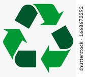 recycle icon vector silhouette...   Shutterstock .eps vector #1668672292