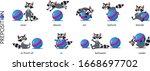 preposition of place set.... | Shutterstock .eps vector #1668697702