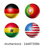 3d soccer balls with group g... | Shutterstock . vector #166872086