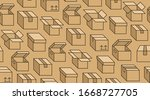 delivery box background  cargo... | Shutterstock .eps vector #1668727705