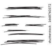 vector set of hand drawn...   Shutterstock .eps vector #1668760372