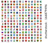 flags of the world   rounded... | Shutterstock .eps vector #166879496