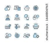 global business vector icons set | Shutterstock .eps vector #1668806965