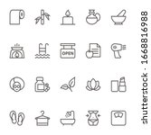 beauty and spa  outline icons. | Shutterstock . vector #1668816988