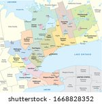map of the golden horseshoe...   Shutterstock .eps vector #1668828352