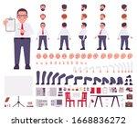 fat male clerk in formal wear... | Shutterstock .eps vector #1668836272