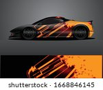 sport car decal graphic wrap...   Shutterstock .eps vector #1668846145
