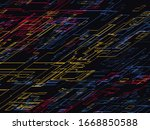 abstract technology concept... | Shutterstock .eps vector #1668850588