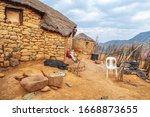 Lesotho Traditional House  ...
