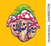 magic mushroom character... | Shutterstock .eps vector #1668881338