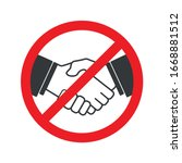 no handshake icon with red... | Shutterstock .eps vector #1668881512