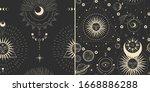 vector illustration set of moon ...   Shutterstock .eps vector #1668886288