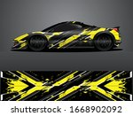 sport car decal graphic wrap...   Shutterstock .eps vector #1668902092